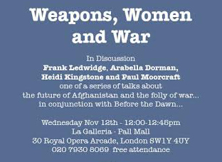Next Event: Weapons, Women and War