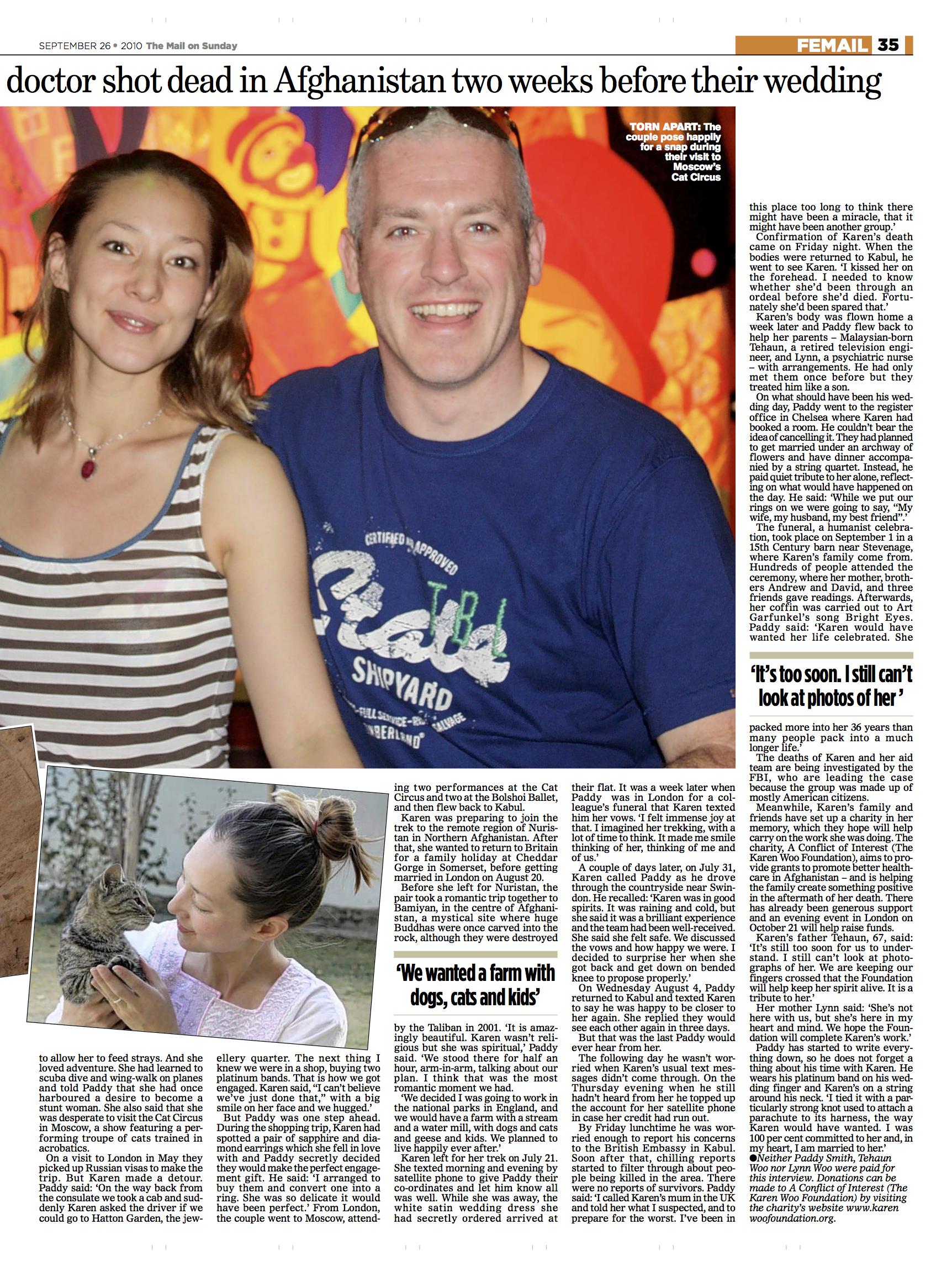 Mail on Sunday-Karen-Woo-humanitarian-hero_p2